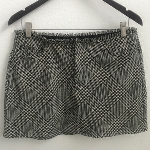 Zara Trufaluc Tweed Herringbone Mini Skirt
